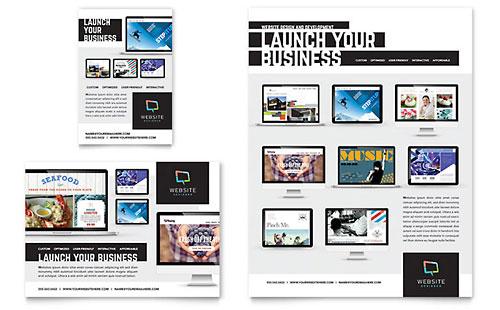 Website Designer Flyer Template Design