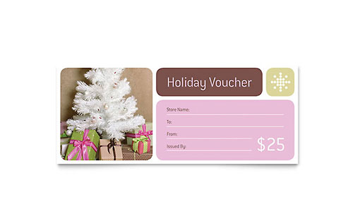 Gift Certificate Templates - InDesign, Illustrator, Publisher, Word - christmas certificate template