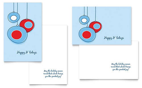 Greeting Card Templates - InDesign, Illustrator, Publisher - birthday card layout