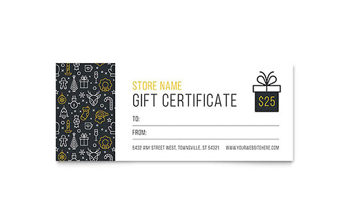 Christmas Wishes Gift Certificate Template Design - Christmas Certificates Templates For Word