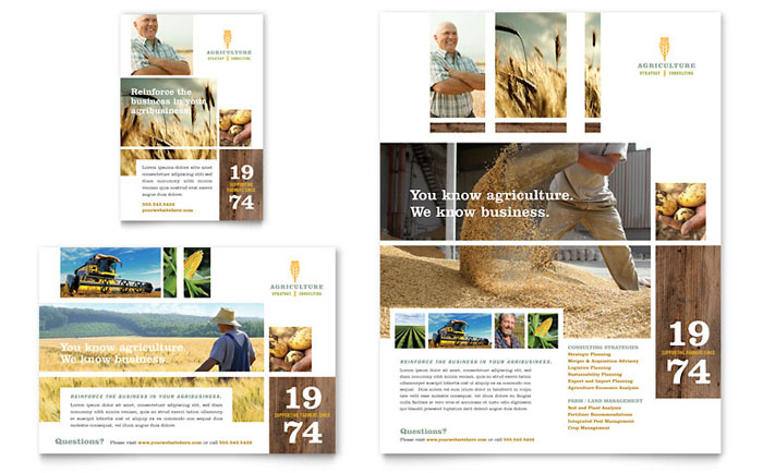 Farming Agriculture Flyer Ad Template Design