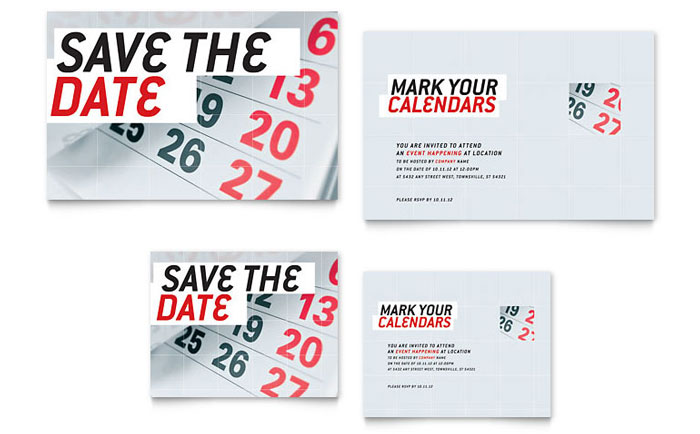 save the date template word