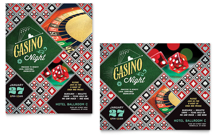 Casino Night Party Invitation Ideas for Fundraisers  Events