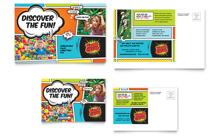 Kids Club Brochure Template Design