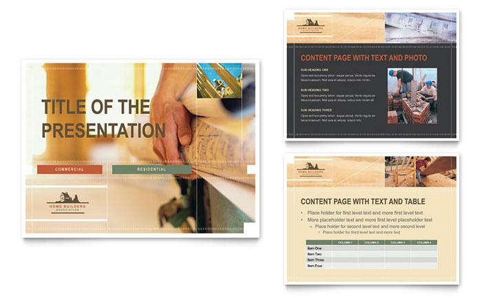 Home Builders \ Construction PowerPoint Presentation Template Design - powerpoint flyer template