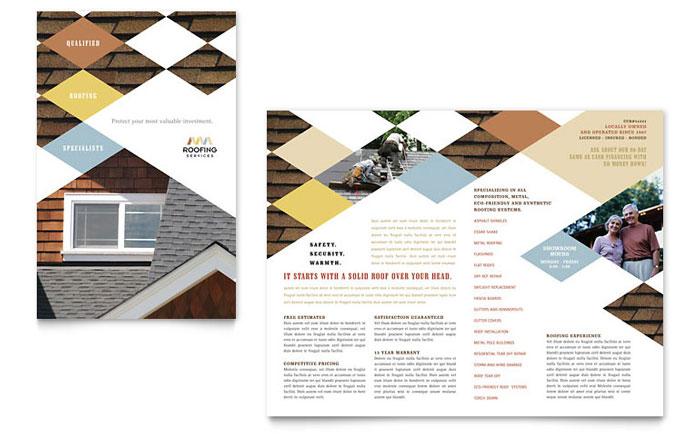 Roofing Contractor Brochure Template Design