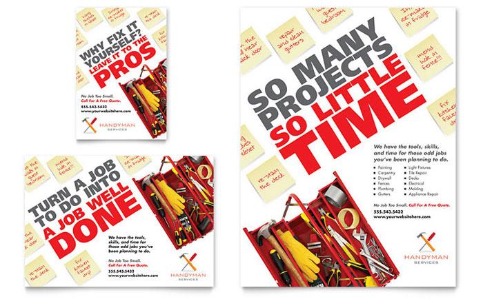 handyman advertising templates