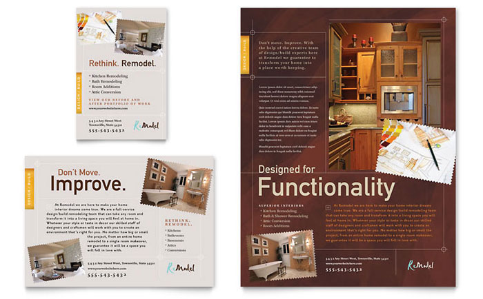 Interior Design Flyer Template Design - interior design flyers