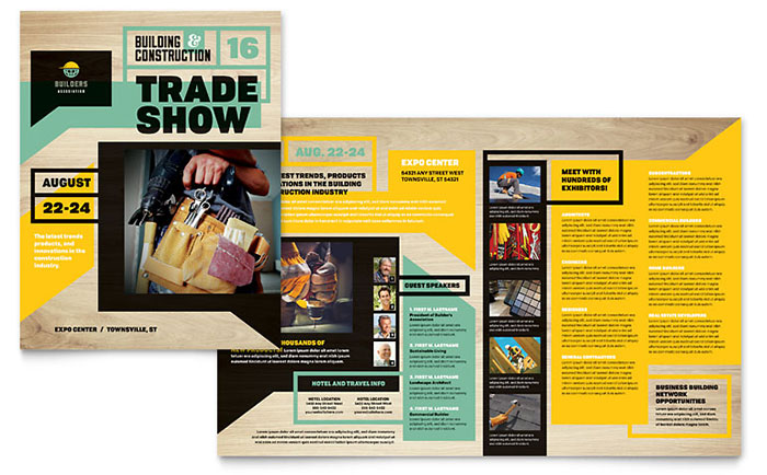 Builder\u0027s Trade Show Brochure Template Design - brochure format word
