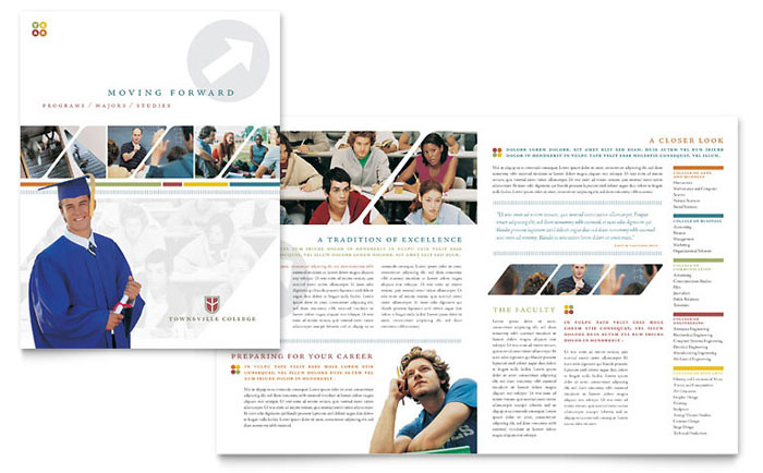 same band of photos, but more of an idea on how to use it on the - university brochure template