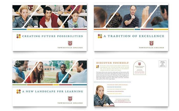 College  University Brochure Template Design
