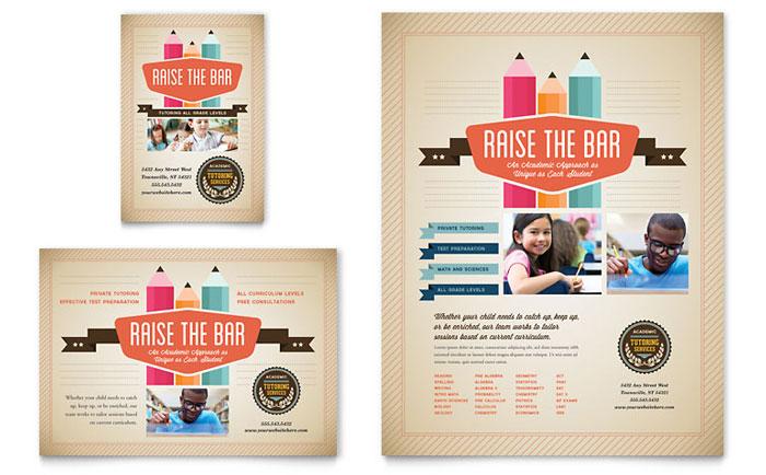 Tutoring School Flyer \ Ad Template Design - advertising flyer template