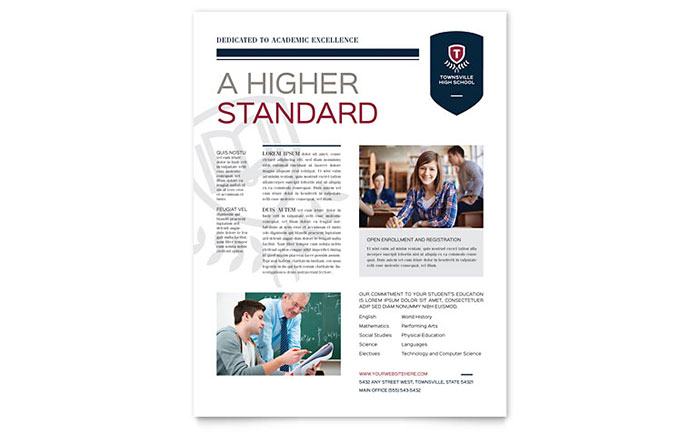 Education  Training Flyers Templates  Design Examples - Flyer Outline