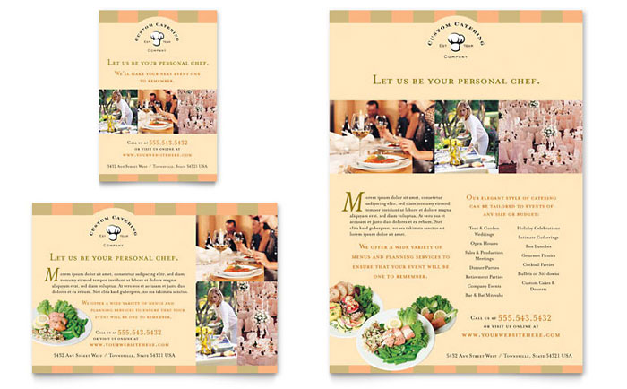 Catering Company Flyer  Ad Template Design