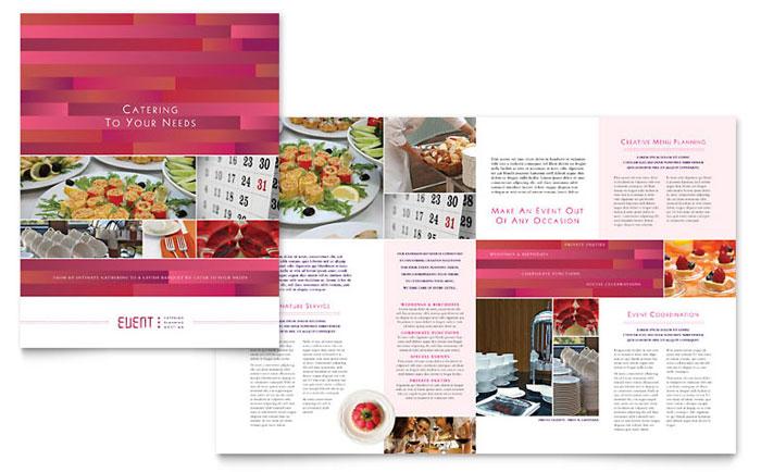 Corporate Event Planner  Caterer Brochure Template Design