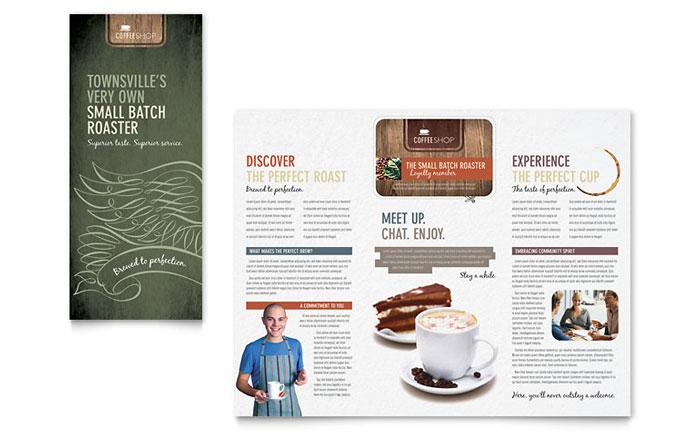 Coffee Shop Brochure Template Design