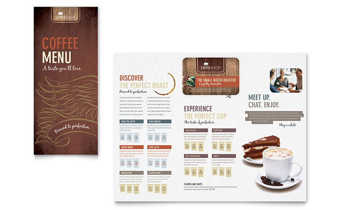 Coffee Shop  Cafe Menus Templates  Graphic Designs - Cafe Menu Template