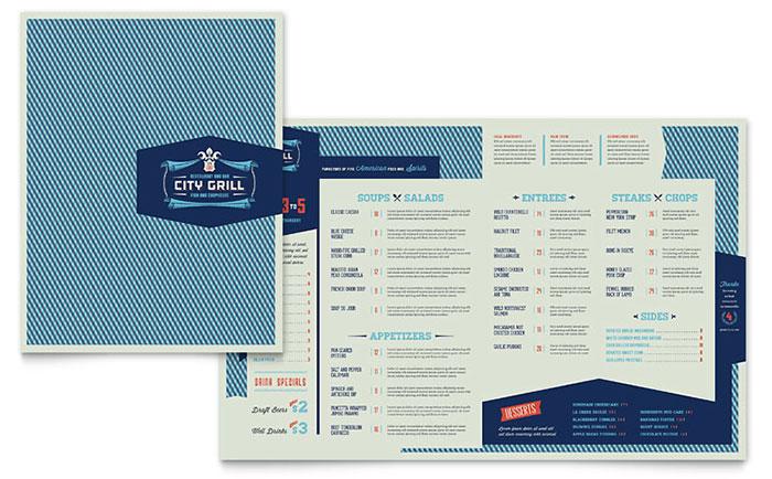 Free Restaurant Menu Templates Sample Restaurant Menus - sample menu template