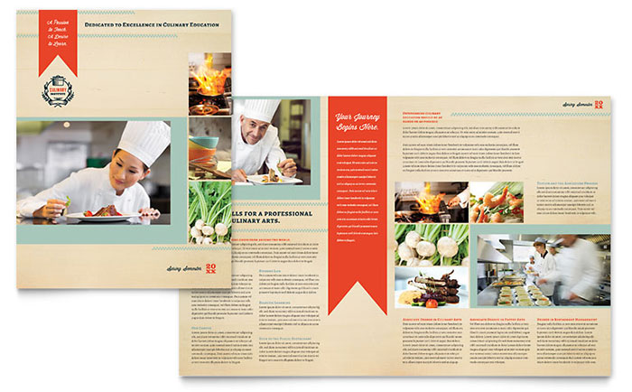 Culinary School Brochure Template Design