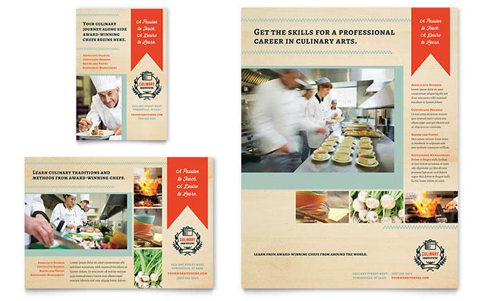 Culinary School Flyer  Ad Template Design