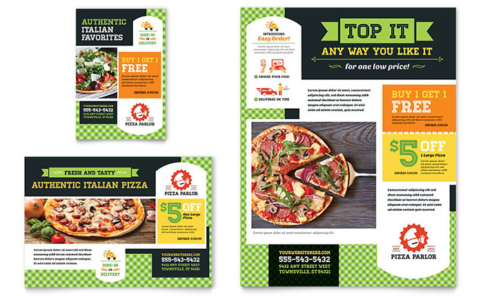 Pizza Parlor Flyer  Ad Template Design