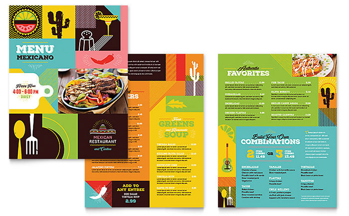 Mexican Food  Cantina Menu Template Design - menu templates free microsoft