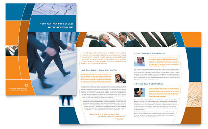 Investment Services Brochure Template Design - services brochure
