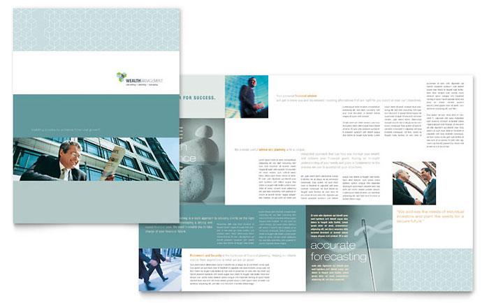 Wealth Management Services Brochure Template Design - services brochure