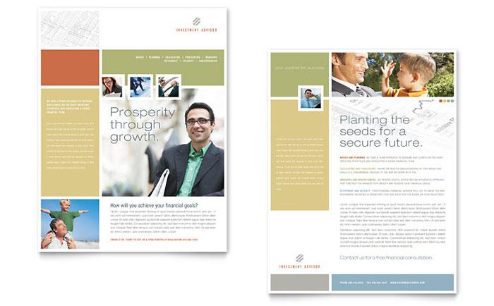 Investment Advisor Newsletter Template Design