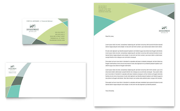 Financial Services Letterheads Templates  Design Examples
