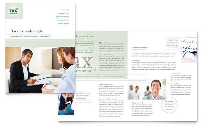 Accounting \ Tax Services Brochure Template Design - services brochure