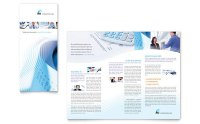 Accounting Firm Tri Fold Brochure Template Design