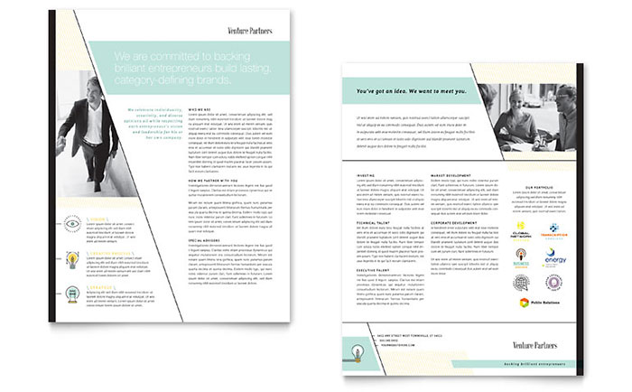 Professional Services Sales Sheets Templates  Design Examples