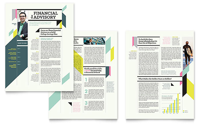 Corporate Newsletters Templates  Graphic Designs - corporate newsletter template