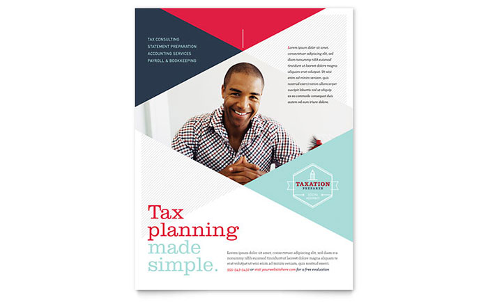 Tax Preparer Flyer Template Design - free pdf flyer templates