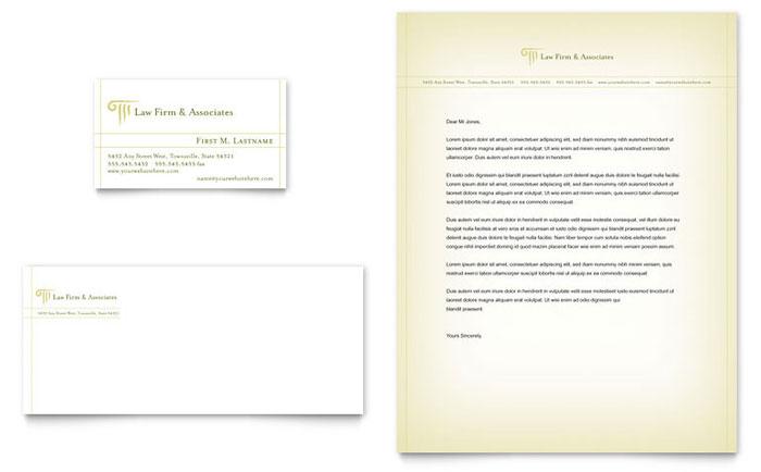 Attorney  Legal Services Business Card  Letterhead Template Design