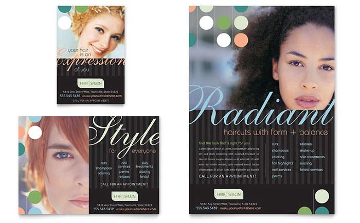 Beauty  Hair Salon Flyer  Ad Template Design