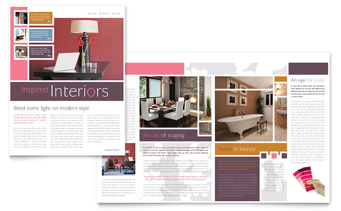 Interior Designer Brochure Template Design - interior design brochure template