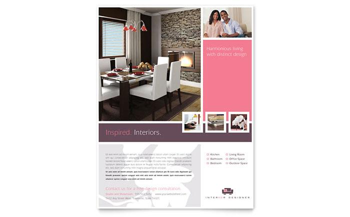 Interior Designer Flyer Template Design - interior design brochure template