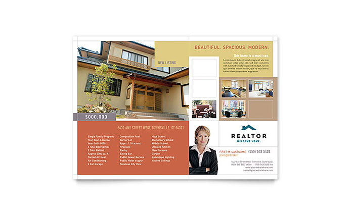 Real Estate Agent Flyers Templates  Graphic Designs