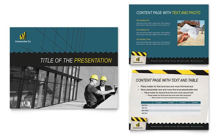 construction powerpoint presentation templates - Demireagdiffusion