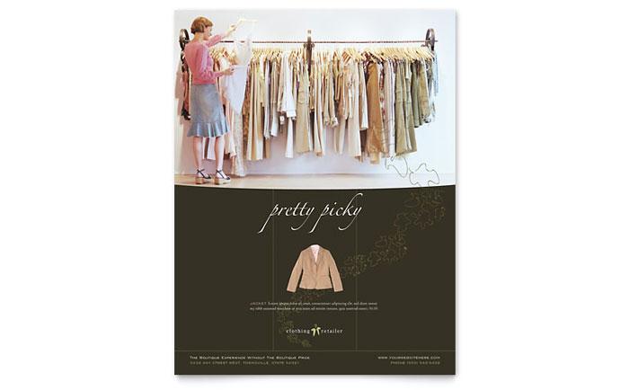 Women\u0027s Clothing Store Brochure Template Design