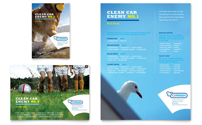 Car Cleaning Flyer  Ad Template Design - car ad template
