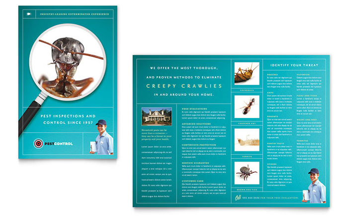 Pest Control Services Brochure Template Design - services brochure