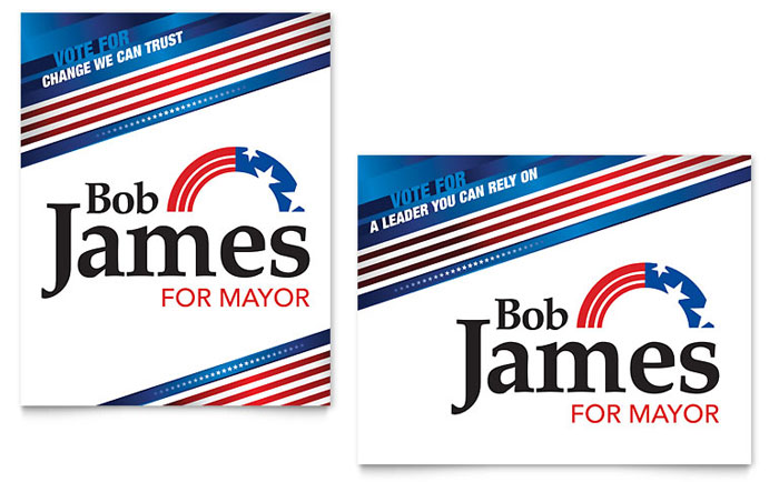 Political Campaign Poster Template Design
