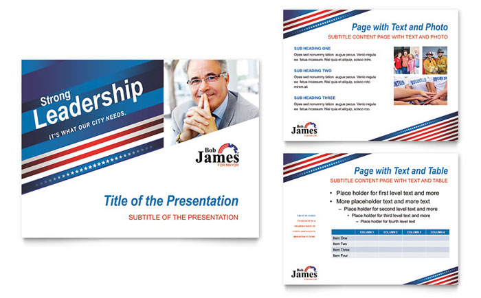 Political Campaign PowerPoint Presentation Template Design - political brochure