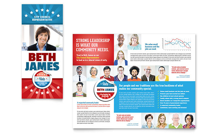 Political Candidate Brochure Template Design - political brochure