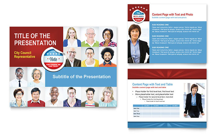 Political Candidate PowerPoint Presentation Template Design - political brochure