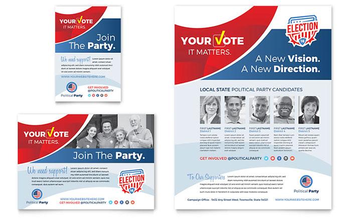Election Brochure Template Design