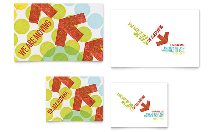Business Moving Note Card Template Design - note card template